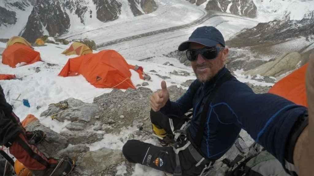 Mingote, en una de sus expediciones. Foto: Twitter (@sergi_mingote)