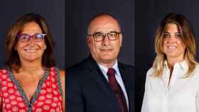 Teresa Basilio, Jordi Argemí y Marta Plana Drópez, los directivos que nombró el Barça.