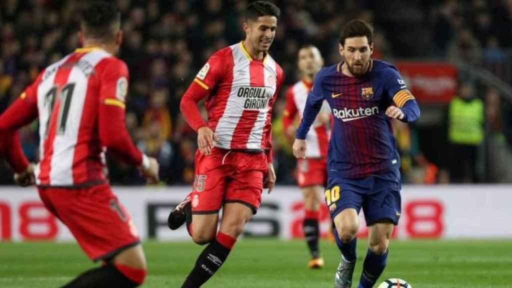 Partido entre Girona y Barça de la pasada temporada.