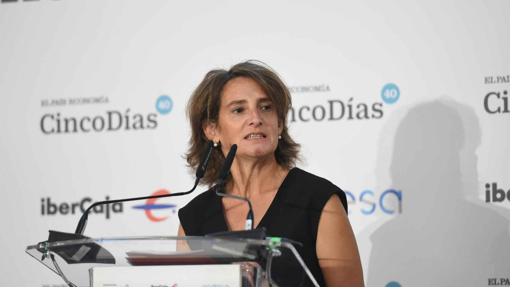 La ministra de Transición Energética, Teresa Ribera.