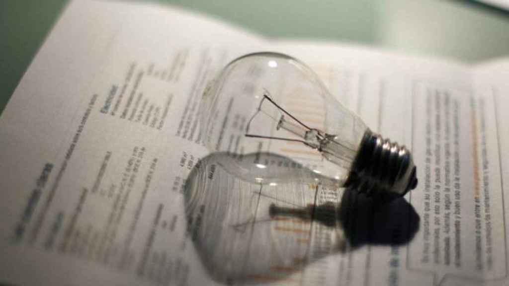 Una factura de electricidad, en una imagen de archivo.