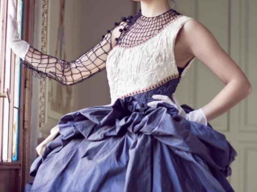 Vestido diseñado por la candidata de Extremadura.