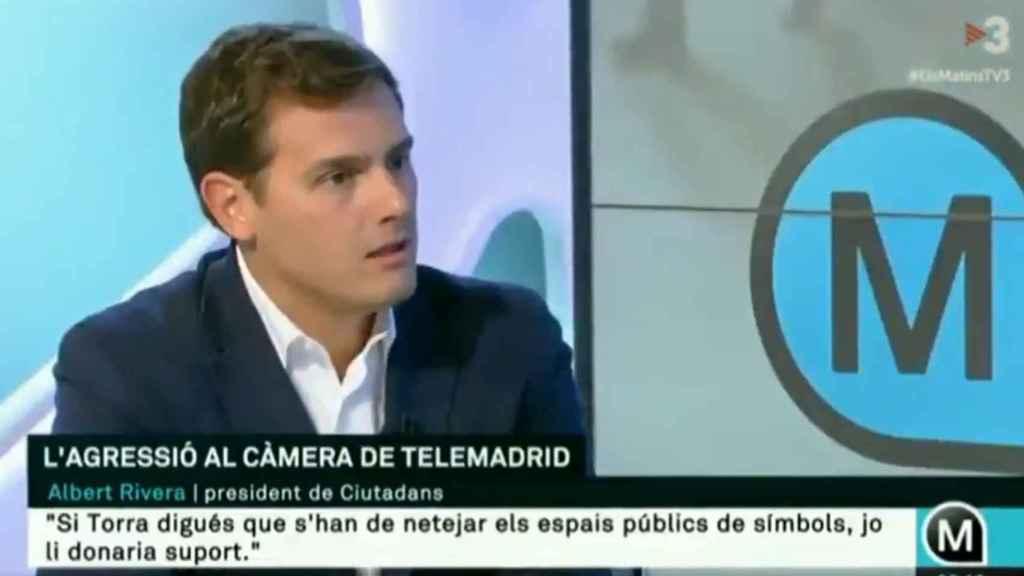 Albert Rivera este viernes en TV3.