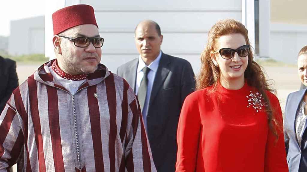 El rey Mohamed VI y su mujer Lalla Salma.