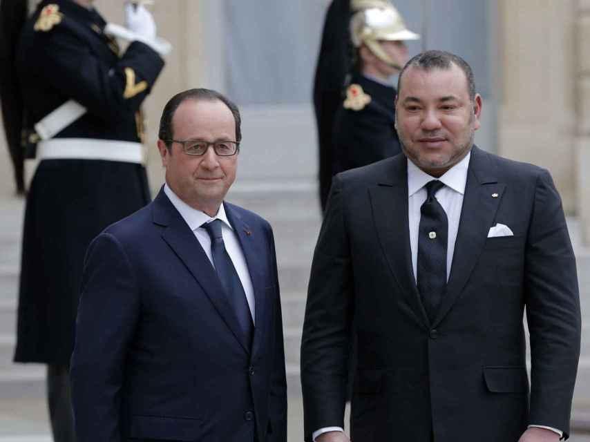 Mohamed VI en un acto en París.