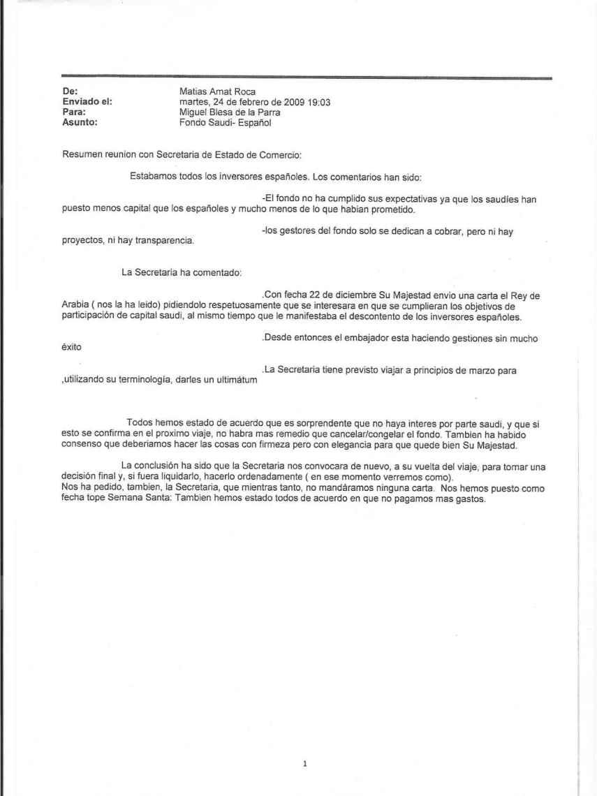 Correo de Caja Madrid de Miguel Blesa.