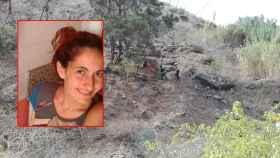 María Eugenia y el lugar donde ha sido encontrada muerta.