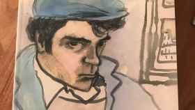 Dibujo de Ceesepe para Andrés Rodríguez.