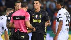 Cristiano, en el partido ante el Parma.