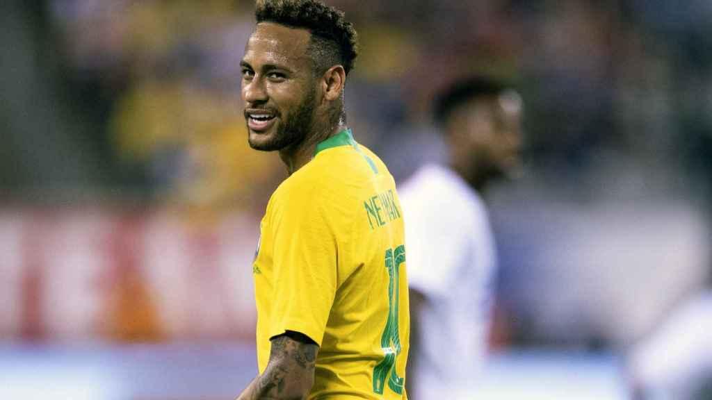 Neymar en en el EEUU - Brasil