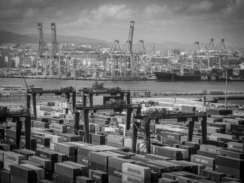 Imagen aérea del puerto de Algeciras (Cádiz).