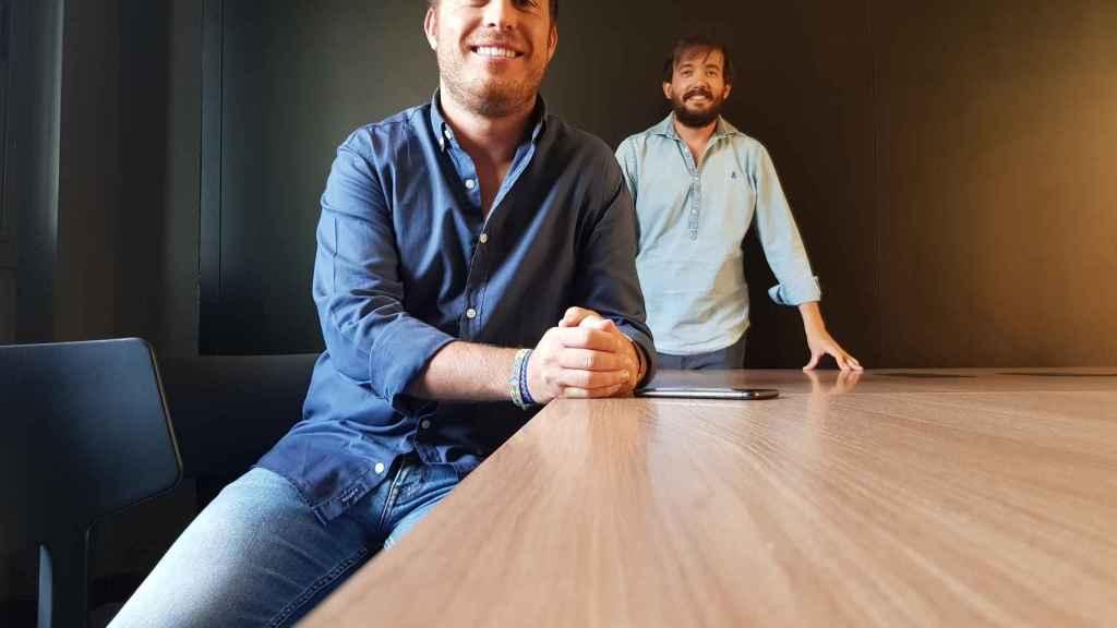 Joaquín Mencía (primer plano) y Carlos Rodríguez Maribona