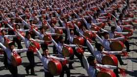 El desfile de este domingo en Corea del Norte.