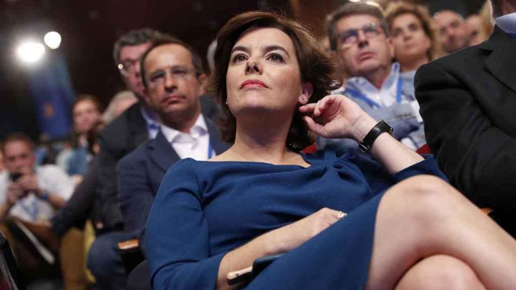 Soraya durante el congreso extraordinario de julio.