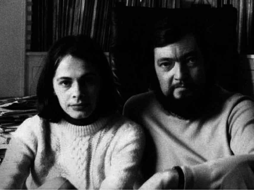 Cristina Peri Rossi y su amigo Julio Cortázar.