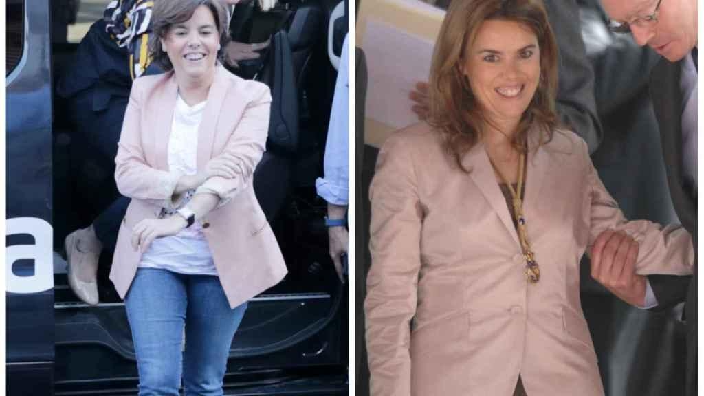 Soraya Sáenz de Santamaría en montaje JALEOS.