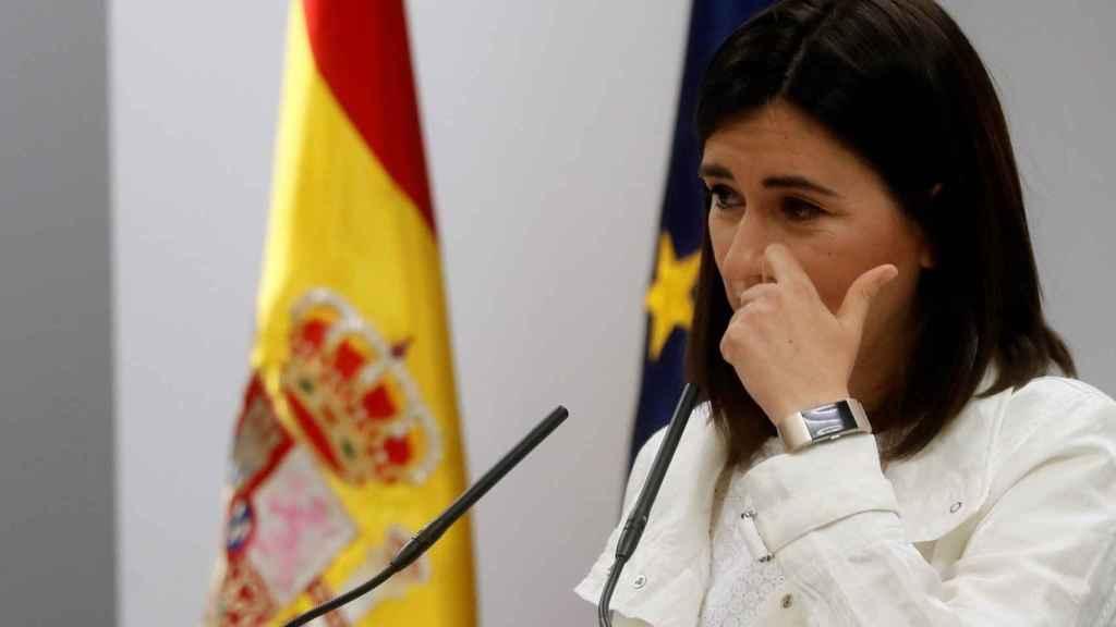 Carmen Montón, este lunes durante su rueda de prensa.