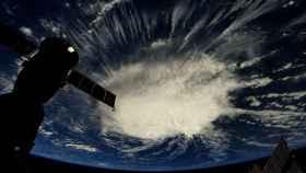 Foto del huracán 'Florence' tomada desde la Estación Espacial Internacional.