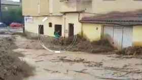 Momento en el que la vecina de Cebolla se agarra a la reja para salvar su vida