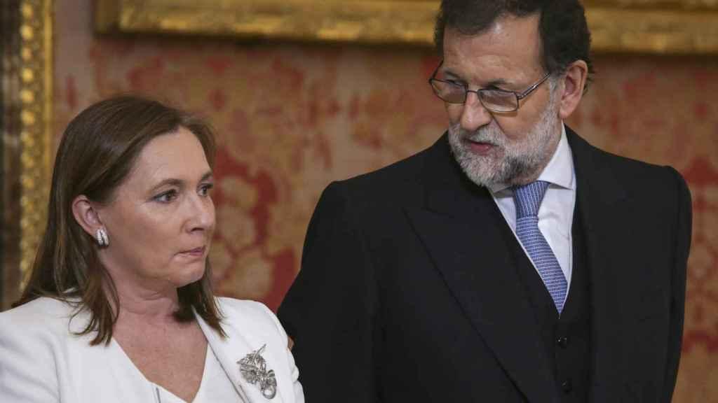 Mariano Rajoy y su mujer, Elvira Fernández-Balboa.