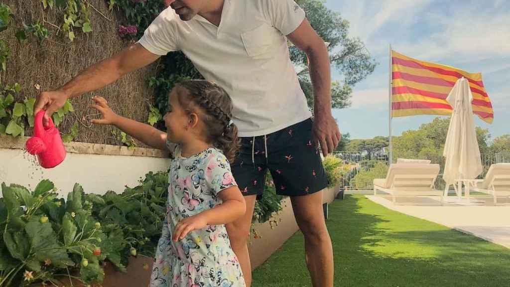 Xavi Hernández, celebra la Diada