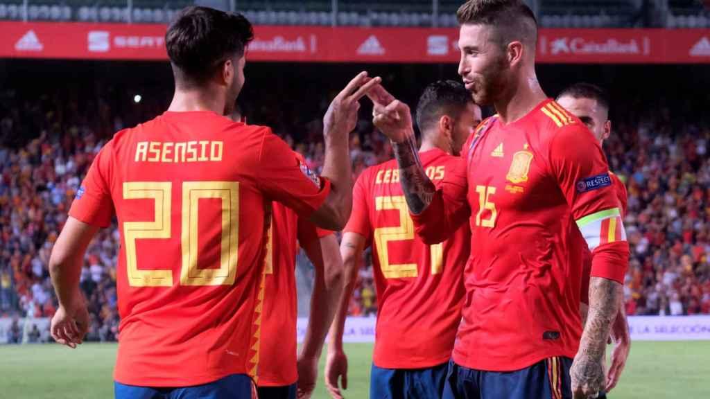 Asensio y Sergio Ramos contra Croacia
