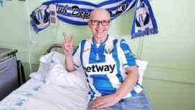 Blanca Poza, tras su tratamiento contra el cáncer. Foto: Twitter (@CDLeganes)