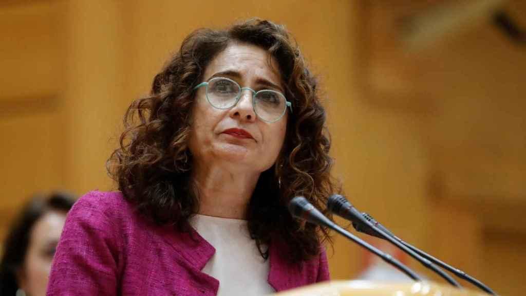 María Jesús Montero durante una intervención.