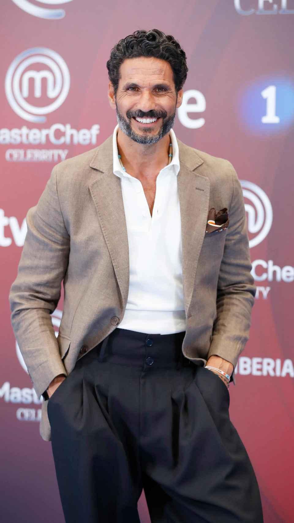 Óscar Higares en la presentación de 'MasterChef Celebrity'.