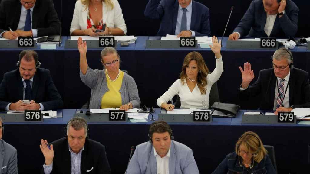 La Eurocámara, durante una votación