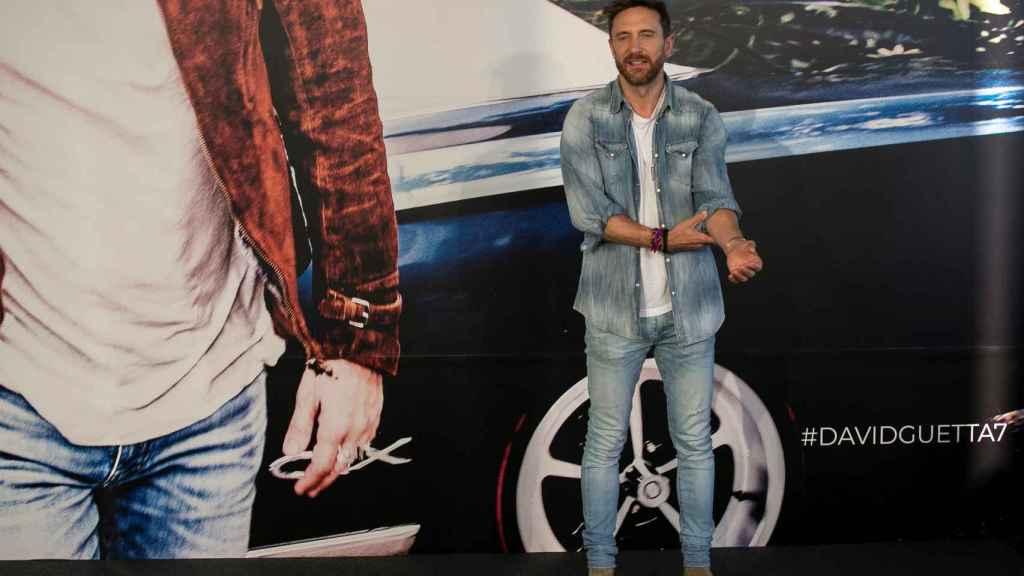David Guetta durante la presentación de su nuevo álbum en Madrid.