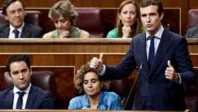 Pablo Casado en el Congreso esta mañana.