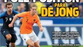 La portada del diario Sport  (13/09/2018)