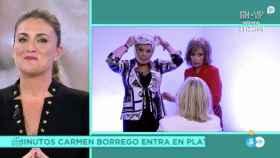María Teresa Campos y Terelu Campos miran a Carmen Borrego.