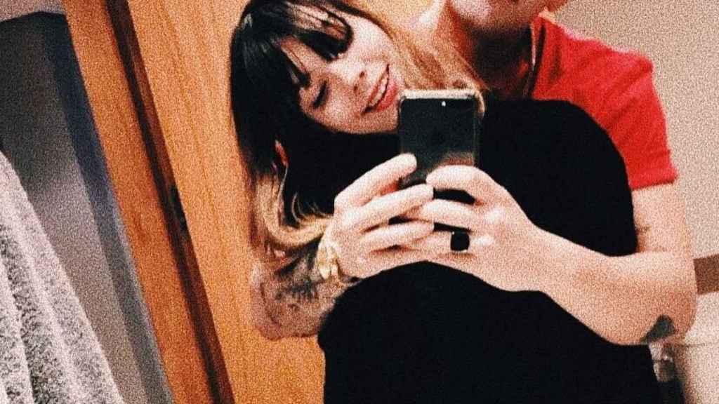 Alejandra con Álvaro Lobo.