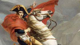 Un cuadro  que representa a Napoleón sobre un caballo.l