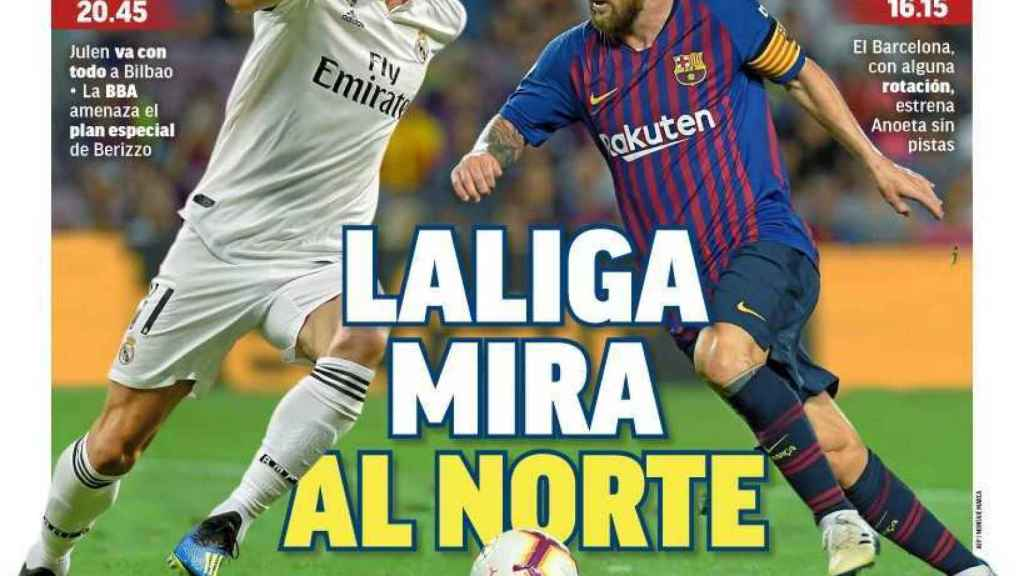 La portada del diario MARCA (15/09/2018)