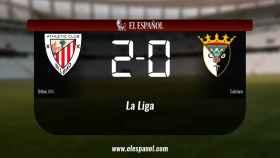 El Bilbao Ath. derrotó al Tudelano por 2-0
