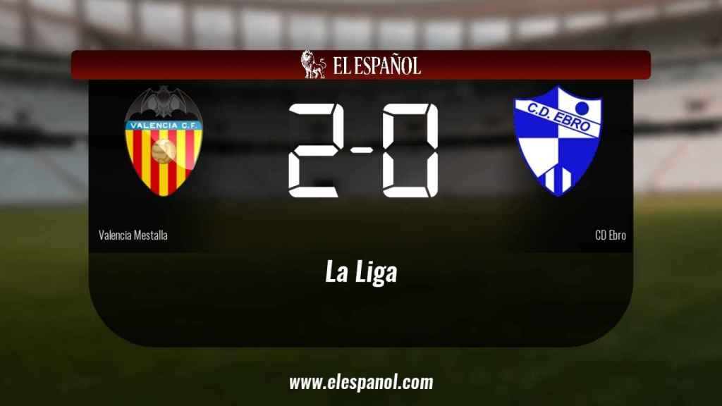 El Valencia Mestalla venció en casa al Ebro