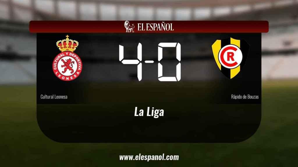 La Cultural Leonesa derrotó al Rápido de Bouzas por 4-0