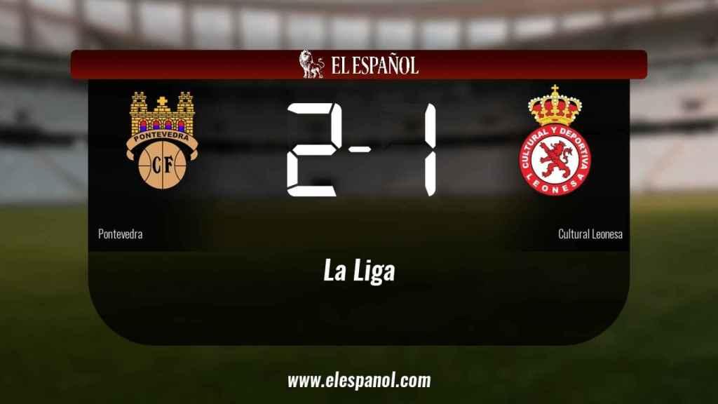 Los tres puntos se quedaron en casa: Pontevedra 2-1 Cultural Leonesa