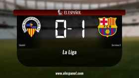 El Sabadell cae derrotado ante el Barcelona B (0-1)