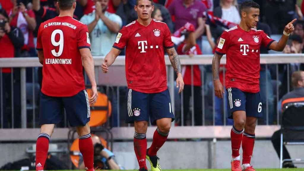 James Rodríguez, en un partido del Bayern Múnich