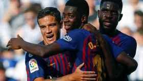 Dembélé, Coutinho y Umtiti