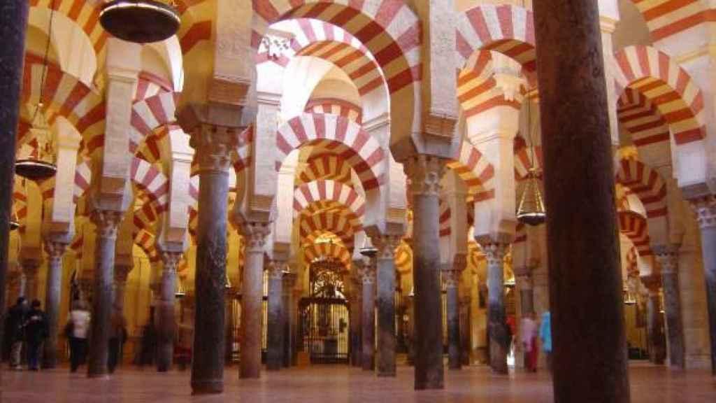 Patio de las columnas de la Mezquita de Córdoba.