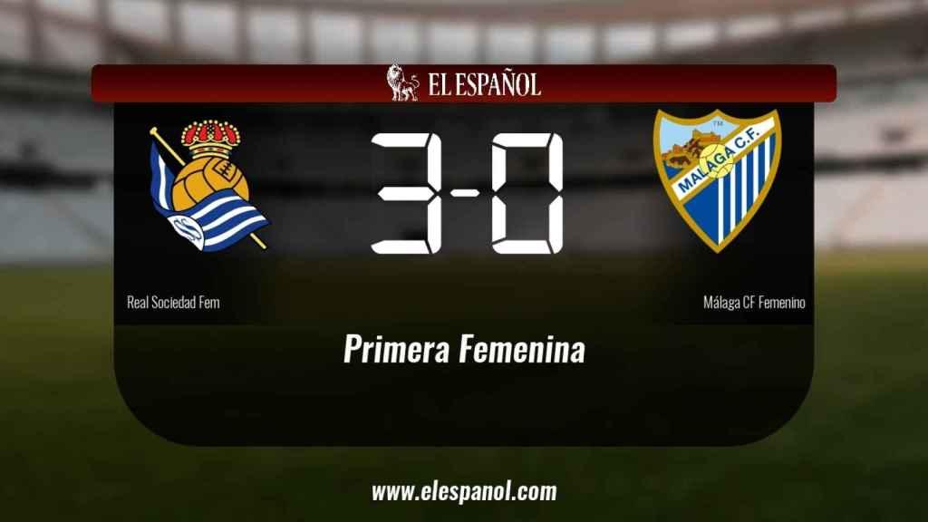 La Real Sociedad derrotó al Málaga por 3-0