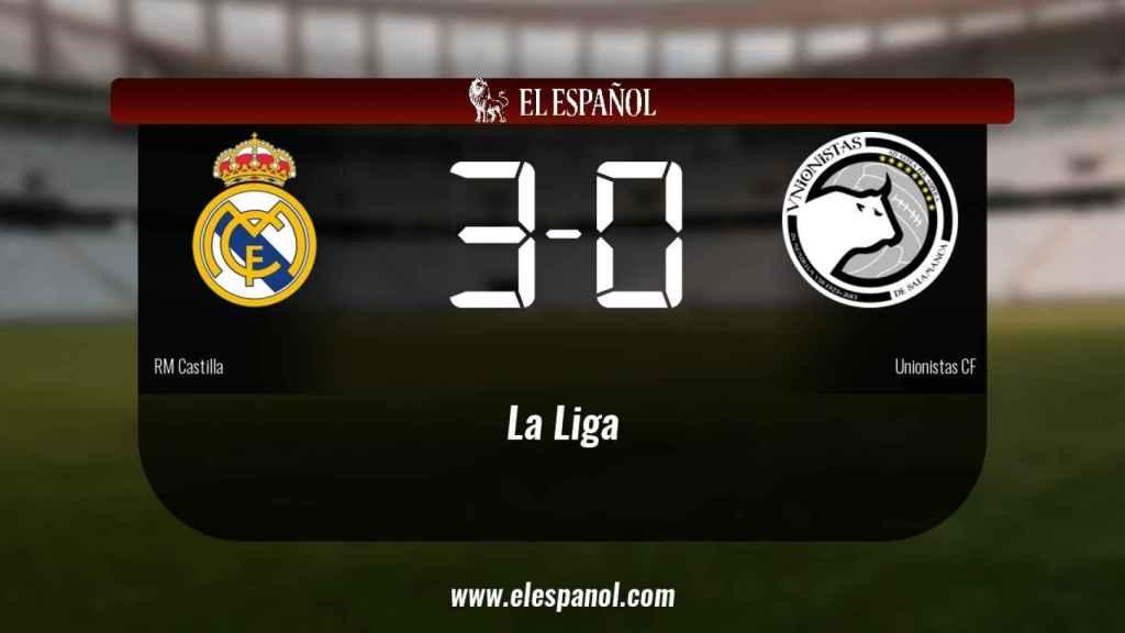 Triunfo del RM Castilla por 3-0 frente al Unionistas