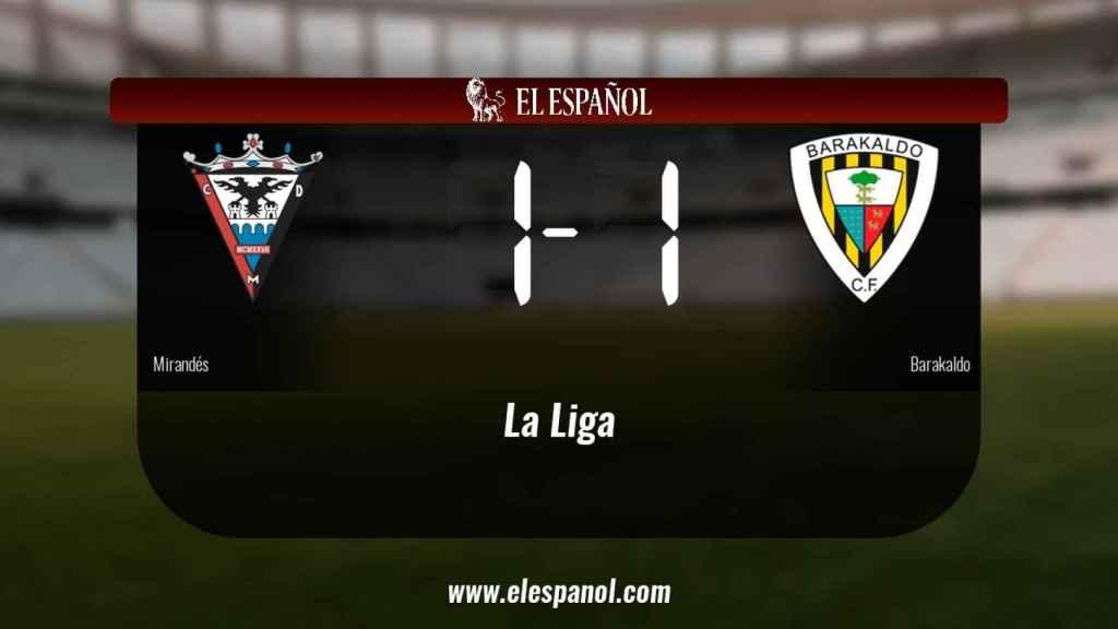 El Mirandés y el Barakaldo sólo sumaron un punto (1-1)