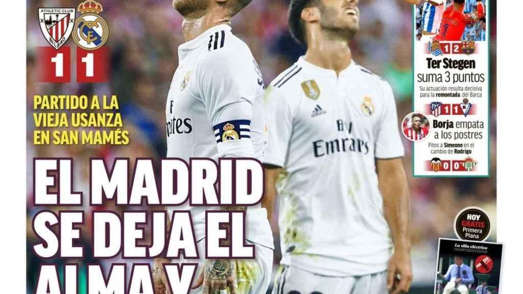 La portada del diario Marca (16/09/2018)
