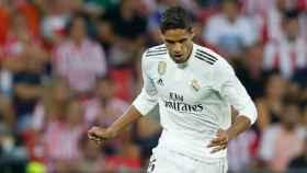 Varane. en un partido del Real Madrid